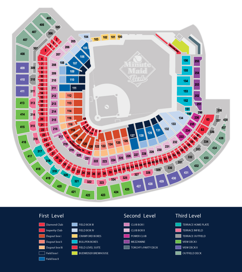 Minute maid park seating map mlb com